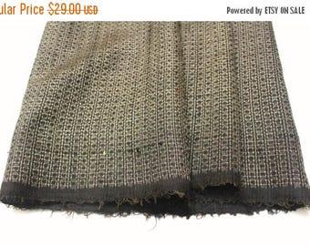 SALE Antique Ooshima Tsumugi Ikat Silk. Japanese Vintage Artisan Fabric. Hand Loomed Textile. Botanical Dye. Brown. (Ref: 1559)