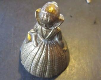 brass bell england lady bell vintage bells
