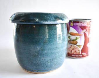 Reserved for Dan - Steel Blue Grease Jar