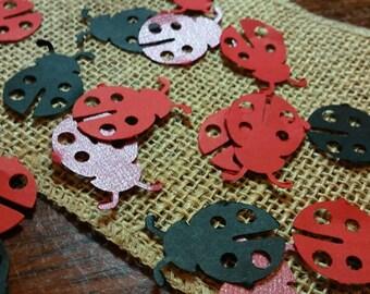 Ladybug Confetti 60 CT- Cutout- Birthday- Baby Shower- Custom Colors Available
