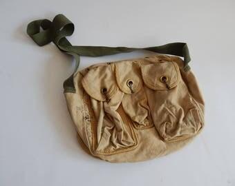 Vintage Military Canvas Bag Fishing Bag Crossbody