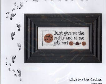 My Big Toe: Give Me the Cookie - Cross Stitch Pattern