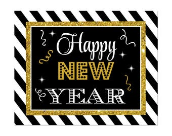 Happy New Year 8x10 Instant Download - New Year Collection
