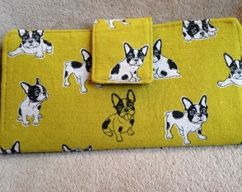 Wallet; Clutch; Dogs; Boston Terriers; Phone pouch