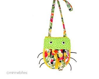 Cross Body Purse for Girls - Green Yellow Lady Bug - First Purse - Birthday Gift - Little Girls Purse - Cute Bag Handbag - Ready to Ship