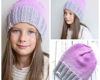 Girls Knit Hat / Knit Hat / Kids Hat / Beanie Hat / Toddler Girl Hat / Knit Girls Hat / Toddler Girl Gifts