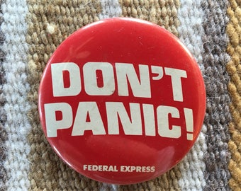 Vintage Federal Express Don't Panic button
