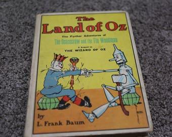 The Land Of Oz Scarecrow And Tin Woodman Vintage Book Hardback Baum