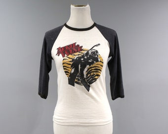 Vintage April Wine Concert T Shirt 1981 Womens Size XS Raglan