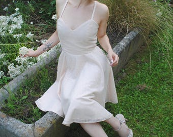 Dress Retro / pinup lace Pale pink - all sizes