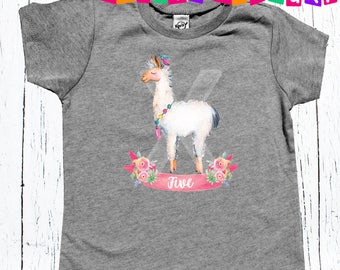 Llama Birthday shirt Any Age Applied First Birthday Outfit Girl, One Baby Bodysuit, Boho Baby Clothes, 1st Birthday Shirt, Llama Shirt