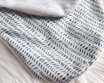 Nursing Pillow Cover / Splendid Rain Nursing Pillow / Indigo Crib Bedding, Navy Nursing Pillow, Baby Shower Gift, Baby Boy Gift