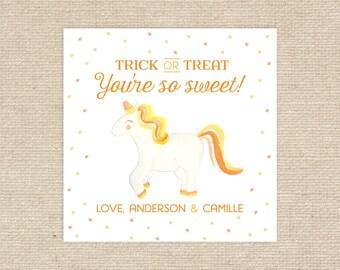 Printable Candy Corn Unicorn Tags
