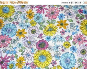 ON SALE 30% OFF Blossom Fabric - Flower Fabric - Pink Fabric - Ikea Fabric - Floral Fabric - Cotton Fabric - Girl Fabric - Extra Wide Fabric