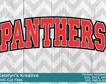 Panthers Arched SVG Files