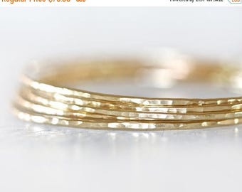 SUMMER SALE Gold Bangles / Stacking Bangles / Nu Gold Bracelets / Chic Fashion Fresh Finds Hand Hammered / Unique / Fashion Trend / Gold Tre