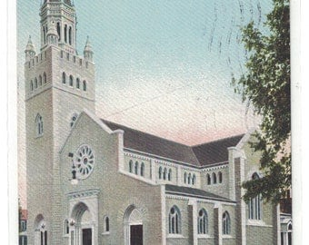 """New Hampshire, Vintage Postcard, """"Concord, N. H., First Church of Christ, Scientist,""""  1905. #1089."""