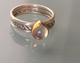 Moonstone Pear Ring