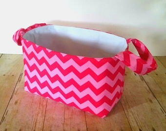 Pink Tonal Diaper Caddy - Fabric Storage Basket - New Baby Gift -  Nursery Decor - Fabric Easter Basket
