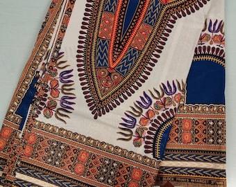 African Print Dashiki Fabric , HITARGET, (Sold by panel)
