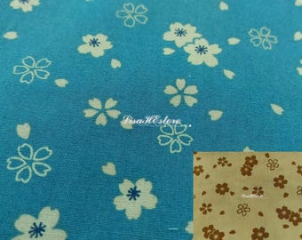 Cherry blossom in Japanese classic style, 1/2 yard, pure cotton fabric