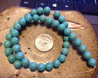 25% off 9 mm magnesite round beads, stone beads, jewelry supplies