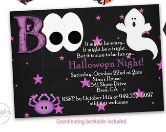 Kids Halloween Costume Invitation, Printable Halloween Birthday Party Invitations, Halloween Invitation Kids, Halloween Party Printable