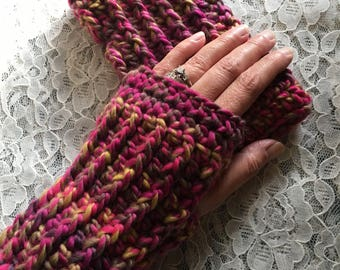 Ruby Fingerless Gloves Texting Gloves - Ready to Ship