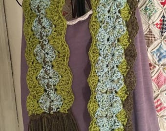 Shell Scarf in Wasabi Pop - Ready to Ship