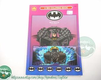 Vintage Batman Returns Coloring Book 1990s USED