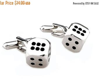 Limited Time Offer Dice Cufflinks - Groomsmen Gift - Men's Jewelry - Gift Box Included