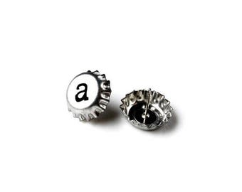 Limited Time Offer Mini Bottle Cap Stud Earrings - Accessories - Women's Jewelry - Gift Idea - Handmade - Gift Box Included