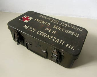 Vintage Italian Army Metal Box