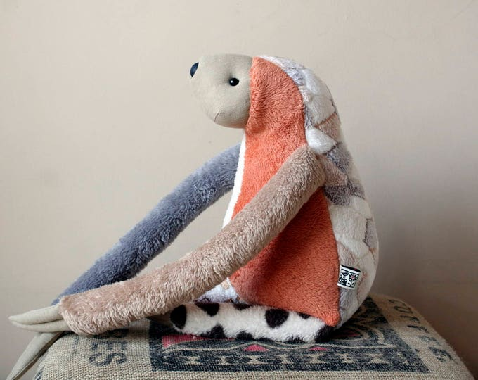 Sloth Soft Plush, Valentine's day special, One-of-a-kind, Ready-to-ship, OoaK, RtS, medium size stuffed plush animal toy for children