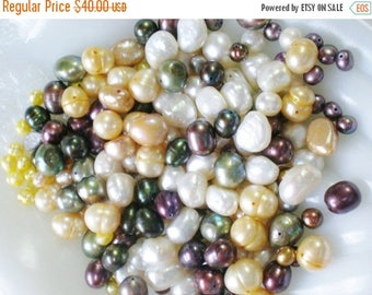 30% OFF SALE Pearl Bead Assortment Huge Loose Lot
