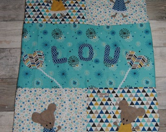 Small personalized baby blanket mouse