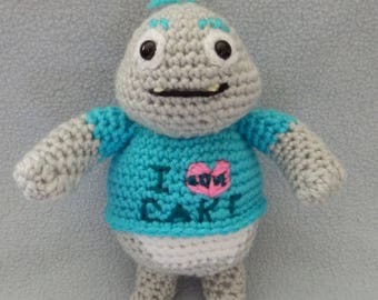 Made to order, Hand crocheted Wallykazam Similar like Cake Monster Amigurumi Doll