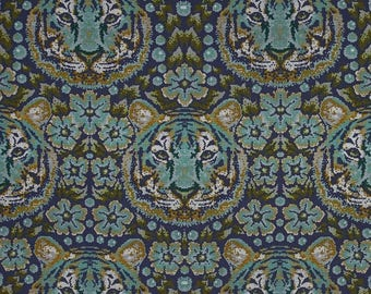 74053  -Tula Pink Eden Crouching Tiger in Sapphire PWTP077 - 1/2  yard