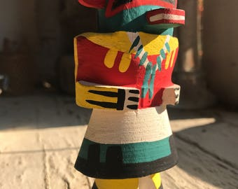 Vintage Hopi Indian carved wood Route 66 Kachina doll