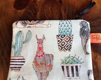 Llama coin purse, change purse, keychain