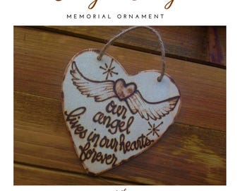 Angel Baby Memorial Ornament Sympathy Gift Loss Infertility Miscarriage Wings heaven Religious Spiritual Pregnancy