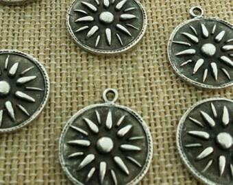 Silver abstract pendants