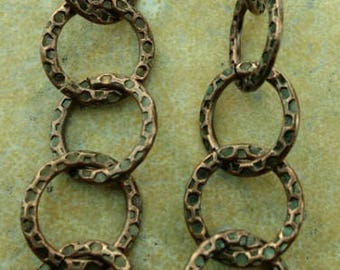 Copper textured chain