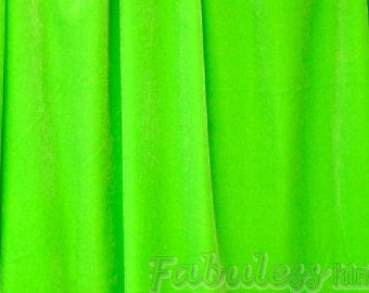 """Spandex Stretch Velvet Lime  2-Way  dance wear home decor fabric by the yard 60"""" Wide"""