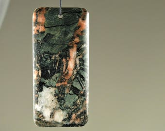 Abstract Beauty ~ Large Scenic New Found Chinese Picture Stone Pendant - 61 mm x 28 mm x 6.3 mm - B7052