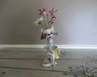 Vintage Dog Planter Dog Vase Kitschy Vase Made in Japan Animal Planter
