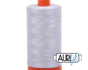 Aurifil Italian Threads-100% Cotton 40wt Piecing and Applique-Large Spool 1092 Yards-2600 Dove