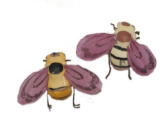 12 pc 2 Inch Craft Bees for Costumes, Halloween Deocrating, Floral Decorating (Tori)  New Item!