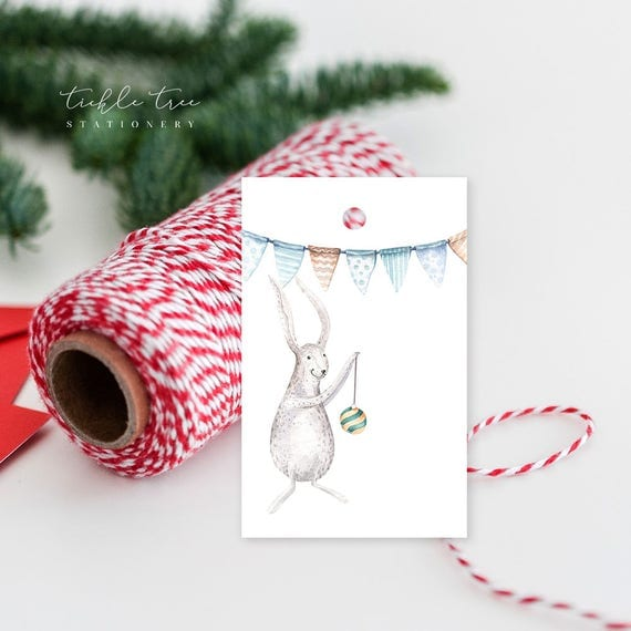 Christmas Gift Tags - Happy Bunny Trails