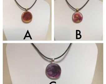 Resin Pendant Necklaces